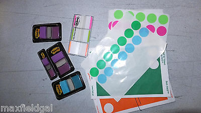 New Post-it Tab Grab Bag 5-pak Tabs 7 Partial Sheets Sticky Dots