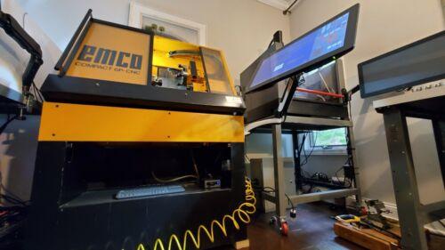 EMCO 6p CNC lathe w Centroid Acorn, touchscreen, complete retrofit