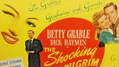 "Betty Grable ~ The Shocking Miss Pilgrim, Original Lobby Card ~ 14"" x 11"""