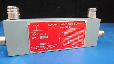 Narda Model 30238 Sn 0041 Coaxial Directional Coupler .460-.950 Ghz