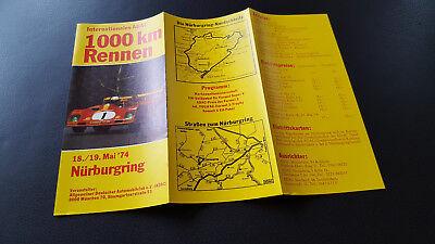 Flyer 1000 KM Rennen1974  Nürburgring Nordschleife Top Zustand