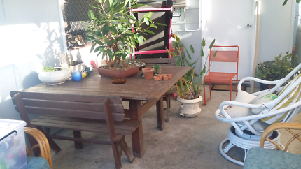 Free wooden outdoor  setting