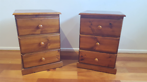 2 x Wooden Bedside Units Lyndhurst Greater Dandenong Preview