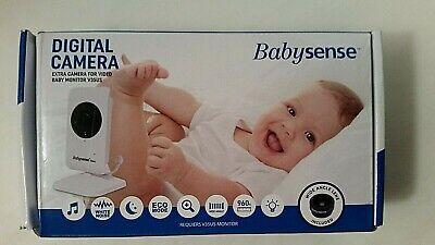 Babysense Digital Camera For Baby Monitor V35US Add On Wide Angle Lens New, usado comprar usado  Enviando para Brazil