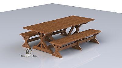 DESIGNER Picnic Table | EASY Woodworking Design Plans 1 | FREE Board Cut Diagram