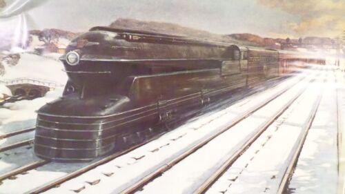 PENNSYLVANIA RAILROAD by Grif Teller 1939 Repro Railroad Train Art Print