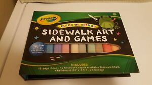 Crayola Color Workshop - Sidewalk Art & Games - Brand New