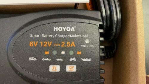 6V-12V 2.5A Smart Battery Charger Maintainer Car 4WD Motorcycle Boat Deep Cycle