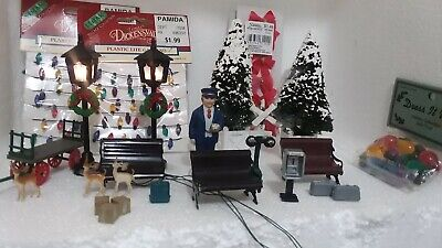 Miniatures for train set or Christmas Village Scene all in individual boxes