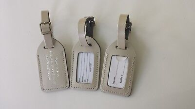 50. SILVER PEARL, premium bonded leather, escort luggage tags,  $2.15 (Premium Bonded Leather)