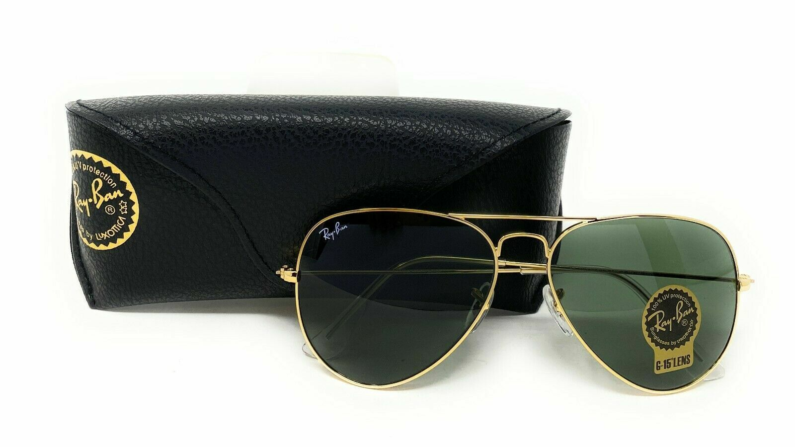 Ray Ban Sunglasses Unisex Aviator RB3025 L0205 Gold Frame Green 58mm Clothing, Shoes & Accessories