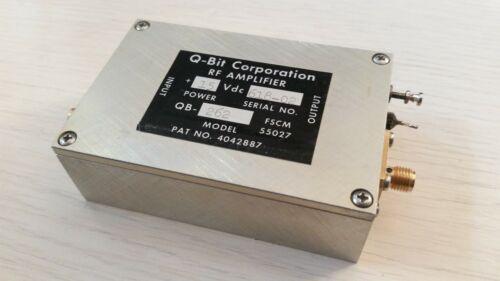 Q-Bit  QB-262  RF Amplifier 10-500Mhz  28dB Gain  +15VDC  SMA Connection