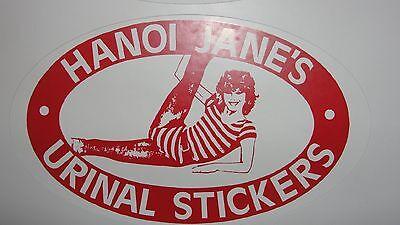 HANOI JANE URINAL STICKER  JANE FONDA  PACK OF3 DECALS STICKERS OVALS