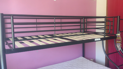 Black frame bunk bed