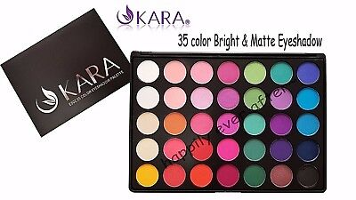 KARA 35 Color Eye Shadow Palette- Highly Pigmented 35 color Bright & Matte #ES02