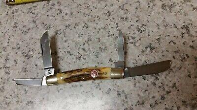 J.A. HENCKELS SAMBAR STAG CONGRESS KNIFE- VINTAGE -SOLINGEN GERMANY-LIGHTLY USED