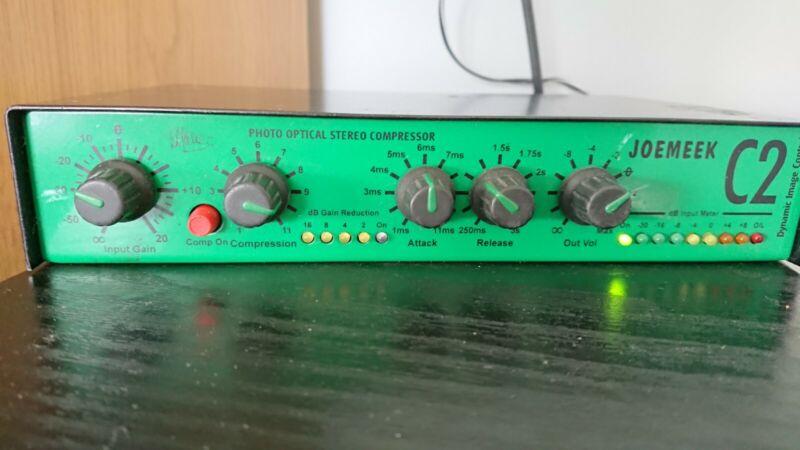 Joemeek C2 Stereo Compressor 1/2 Size Rack Joe Meek FX Processor Late 90s
