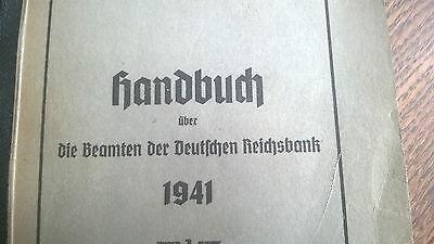 Handbuch über die Beamten der Deutschen Reichsbank 1941