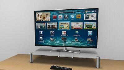 56 -100 cm TV-Aufsatz nach Maß  TVA -125 , LCD-LED Monitorerhöhung,Mattglas (Matt Monitor)