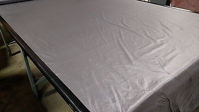 """Silver 1.1 Oz. Nylon Ripstop Fabric 62""""W Tent Camping Breathable Military DWR for sale  Shipping to India"""