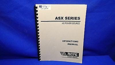 Pacific Power Source Asx Series Ac Power Source Operations Manual