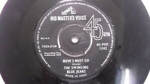 THE-SWINGING-BLUE-JEANS-hippy-shake-rare-SINGLE-7-45-RPM-INDIA-INDIAN-115-VG