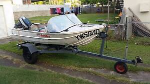 12ft tinny with 25HP outboard and trailer Yeronga Brisbane South West Preview