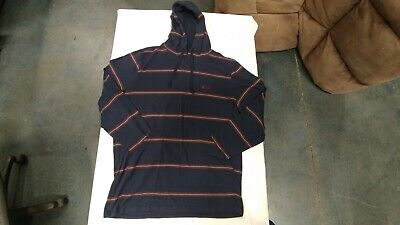 Oakley 96548CA Striped Pullover Hoodie Navy Blue Red and Gray Mens Large for sale  Rancho Cordova