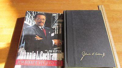 Johnnie Cochran Journey To Justice Signed 1St Edition Hcdj Book Oj Simpson Rare