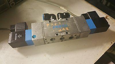 Festo Valve w/ 2 - MSV-3 119 807 24 VDC Solenoids, Used, Warranty