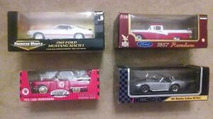 LOT OF 4 RARE 1:18 SCALE DIE CAST METAL MODEL CARS - BRAND NEW IN BOX
