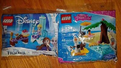 2 NEW LEGO Sealed polybags 30553 Frozen 2 Elsa's Winter Throne & 30397 Olaf's
