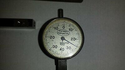 Vintage Carl Mahr Last Word Style Metric Dial Indicator 1100mm Grad.
