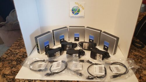 5  UNLOCKED Linksys PAP2T VOIP ATA SELLER REFURBISHED