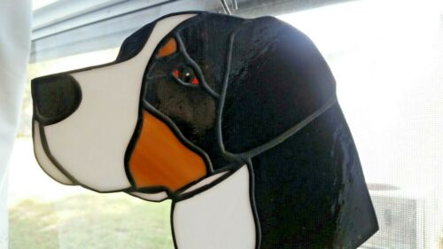 STAINED GLASS DOG - GREATER SWISS MT. DOG