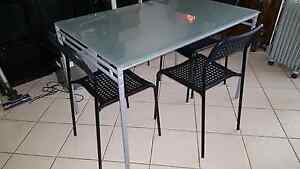IKEA Glass top dining table with four chairs excellent condition! Prospect Prospect Area Preview