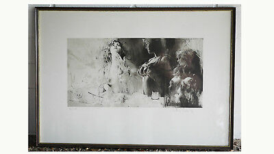 Klaus Böttger original Flachdruckgrafik oT, 1982, L11