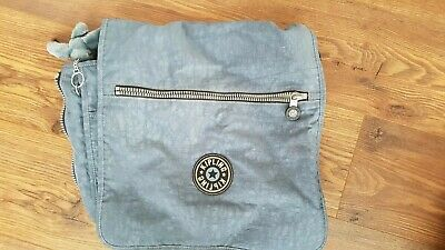 Kipling Messenger Travel Expandable Shoulder Cross Body Bag Georgia Monkey Blue