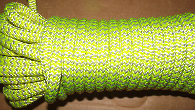 "NEW 7/16"" (11.1mm) x 50' 24-Strand Arborist Climbing Rope, Double Braid"