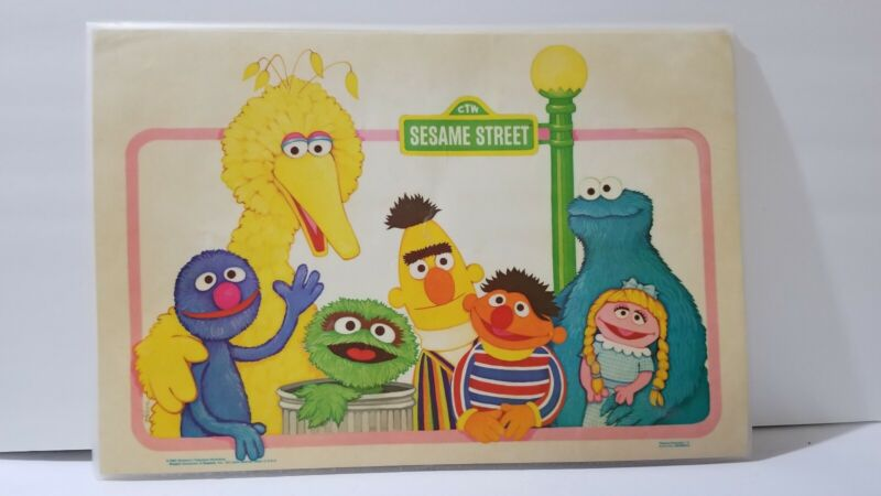 Sesame Street Lot Of 4 1980s Activity Playtime Placemats Muppets Big Bird Ernie