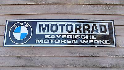 1964 & LATER BMW MOTORCYCLE/MOTORRAD DEALER/SERVICE SIGN/AD 1'X46'' GARAGE ART