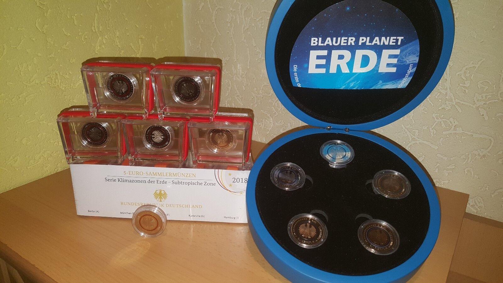 5 X 5 Euro Planet Erde 2016 In Pp Komplett Adfgj