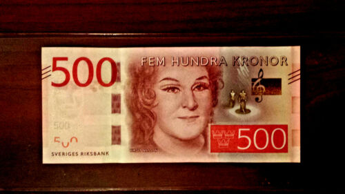 sweden 500 kronor Birgit Nelsson gem UNC.