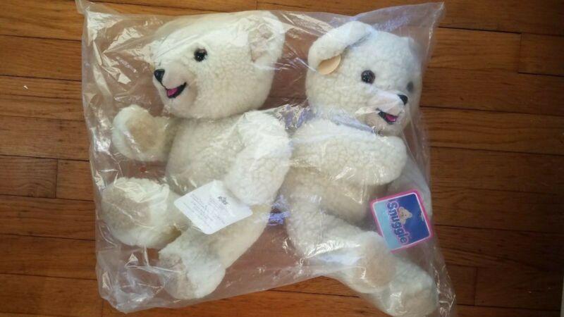 "Pkg 2 Vintage 1986 Russ 16"" Snuggle Fabric Softener Plush Teddy Bear New"