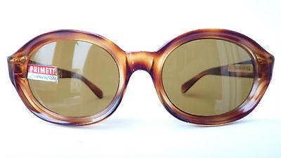 Große Vintage Sonnenbrille Frauen 60s  mit Echtglas 75% Hornoptik Primetta Gr. L