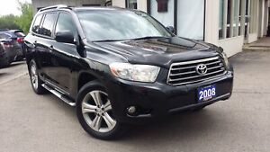 2008 Toyota Highlander 4WD SPORT - LEATHER! SUNROOF! BACK-UP CAM