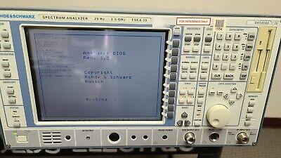 Rohde Schwarz Rs Fsea30 Spectrum Analyzer 20hz-3.5ghz With Option B8