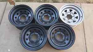 16x8 Dynamic rims 4 Round Hole Black and 1 Silver Sunraysia Rowville Knox Area Preview