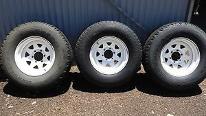 "6 STUD RIMS, TYRES AND BRAKE DRUMS 16"" Tolga Tablelands Preview"
