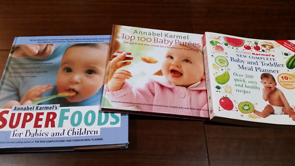 Baby food recipe book annabel karmel feeding gumtree australia 3 x annabel karmel baby and toddler recipe books forumfinder Image collections